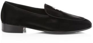 Giuseppe Zanotti Batman Nero Leather Dress Loafers