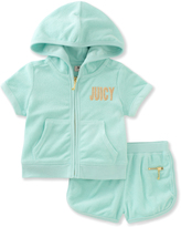 Juicy Couture Mint 'Juicy' Hoodie & Shorts - Toddler & Girls