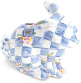 Mackenzie Childs MacKenzie-Childs - Quilted Bunny Money Box - Blue