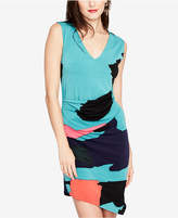 Rachel Roy Printed Ruched Asymmetrical-Hem Dress, Created for Macy's