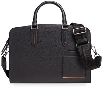 Ermenegildo Zegna Men's Blazer Leather Briefcase