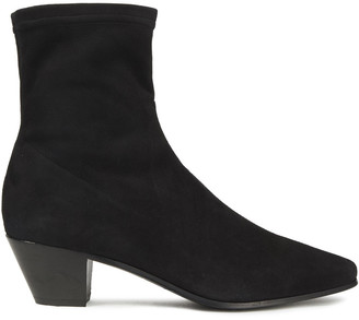 Maje Stretch-suede Ankle Boots