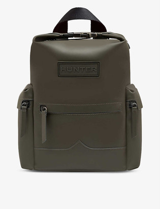 Hunter Original Top Clip rubberised mini leather backpack