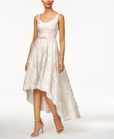 Betsy & Adam Petite Brocade High-Low Gown