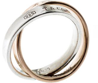 Tiffany & Co. 1837 Interlocking Circles 18k Rose Gold & Silver Ring