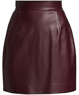 KHAITE Eiko Leather Mini Skirt
