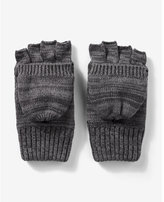 Express stripe pattern flip-top gloves