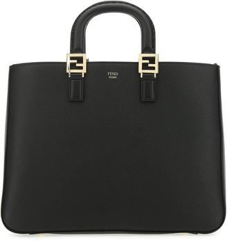 Fendi Medium FF Logo Tote Bag