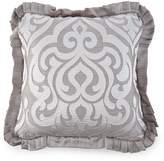 J Queen New York Babylon Pleated Damask & Diamond Square Pillow