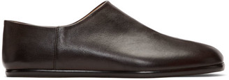 Maison Margiela Brown Tabi Slip-On Loafers