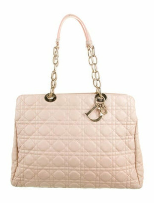 Christian Dior Cannage Soft Shopper Tote Pink