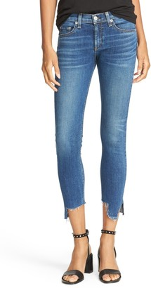 Rag & Bone Raw Asymmetrical Ankle Hem Skinny Jeans