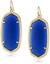 "Kendra Scott Signature"" Danielle Gold plated Navy Glass Drop Earrings"