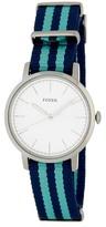 Fossil Women's Neely Two-Tone Nylon Watch
