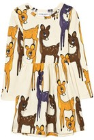Mini Rodini Brown Deer Print Jersey Dress