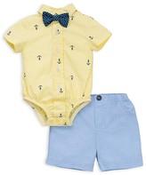 Little Me Boys' Anchor Striped Bodysuit & Shorts Set - Baby