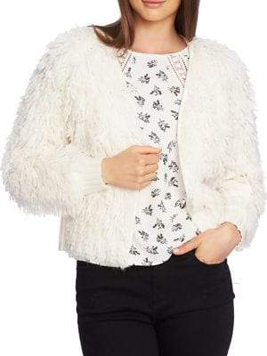 1.STATE Plush Wool Blend Ribbed Cardigan