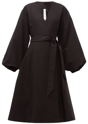 Merlette New York Sian Cotton Wrap Coat - Womens - Black