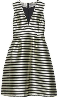 Baum und Pferdgarten Adelis Striped Satin-jacquard Dress