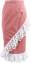 Anouki Plaid Ruffled Skirt