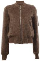 Rick Owens raglan bomber jacket - women - Cotton/Nylon/Cupro/Wool - 44