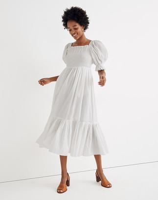 Madewell Karen Walker Andromeda Ruffle Midi Dress