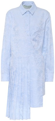 Off-White Off White Waves jacquard cotton shirt dress