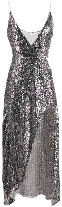 For Love & Lemons asymmetric sequin dress