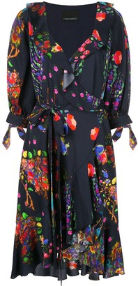 Cynthia Rowley Forest Print Wrap Dress