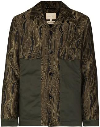Nicholas Daley Swirl Pattern Shirt Jacket