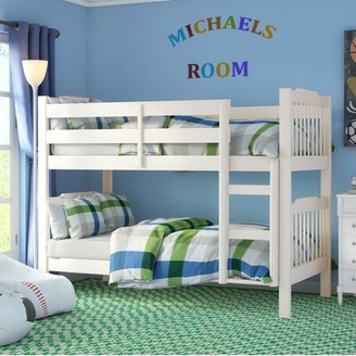 Viv + Rae Theodore Twin over Twin Bunk Bed Bed Frame Color: Soft White