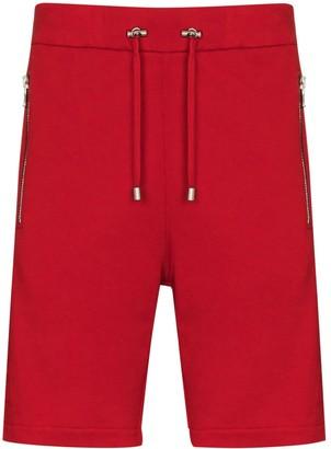 Balmain Embossed Logo Shorts