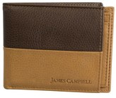 James Campbell Leather Passcase Wallet