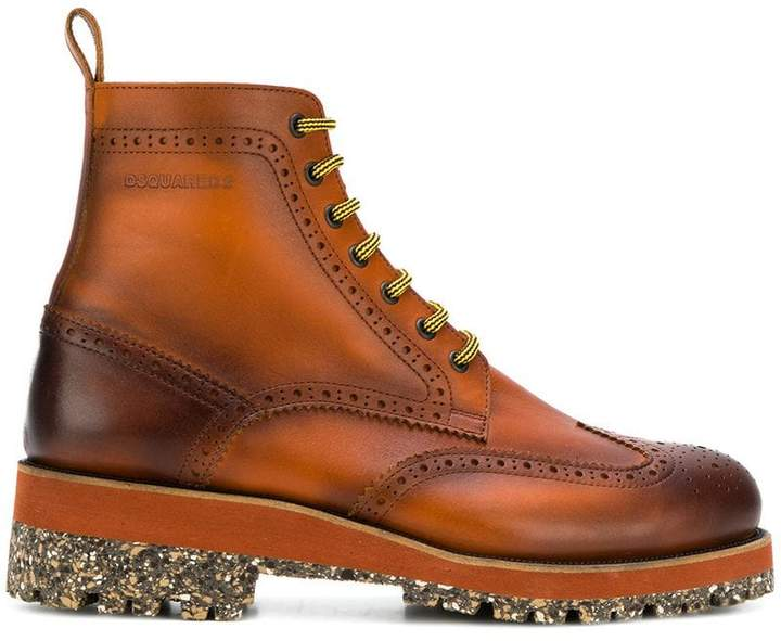 DSQUARED2 lug sole ankle boots