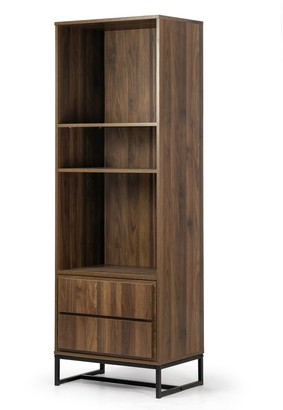 Glamour Home Arya Bookcase Display Shelf Media Tower with Cabinet