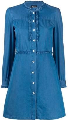 A.P.C. long-sleeve denim dress