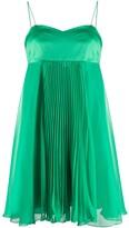 Pinko Babydoll Pleated Mini Dress