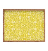 Deny Designs Aimee St Hill Amirah Yellow Rectangle Wood Tray