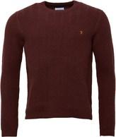 Farah Mens Oldham Crew Neck Sweater Rum