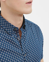 TIMSHR Hexagon print cotton shirt
