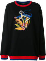 Etro monkey appliqué sweatshirt