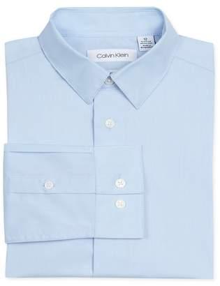 Calvin Klein Solid Stretch Poplin Shirt (Little Boys)