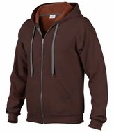 Gildan Heavy Blend Mens Vintage Full Zip Hooded Sweat / Hoodie (XL)