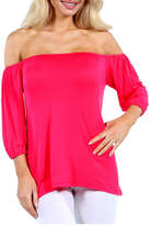 24/7 Comfort Apparel Shoulder Tunic Top