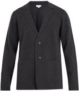 Sunspel Notch-lapel single-breasted wool blazer