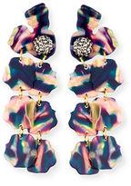 Lele Sadoughi Hand-Swirled Petal Drop Earrings