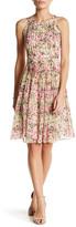 Adrianna Papell Pleated Halter Neck Fit & Flare Dress (Regular & Petite)