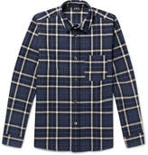 A.P.C. Felix Checked Cotton And Linen-Blend Shirt