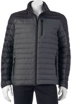 ZeroXposur Men's Relay Colorblock Down Puffer Jacket with Packable Neck Pillow