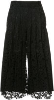 Sacai lace detail trousers - women - Cotton/Cupro/Rayon - 1